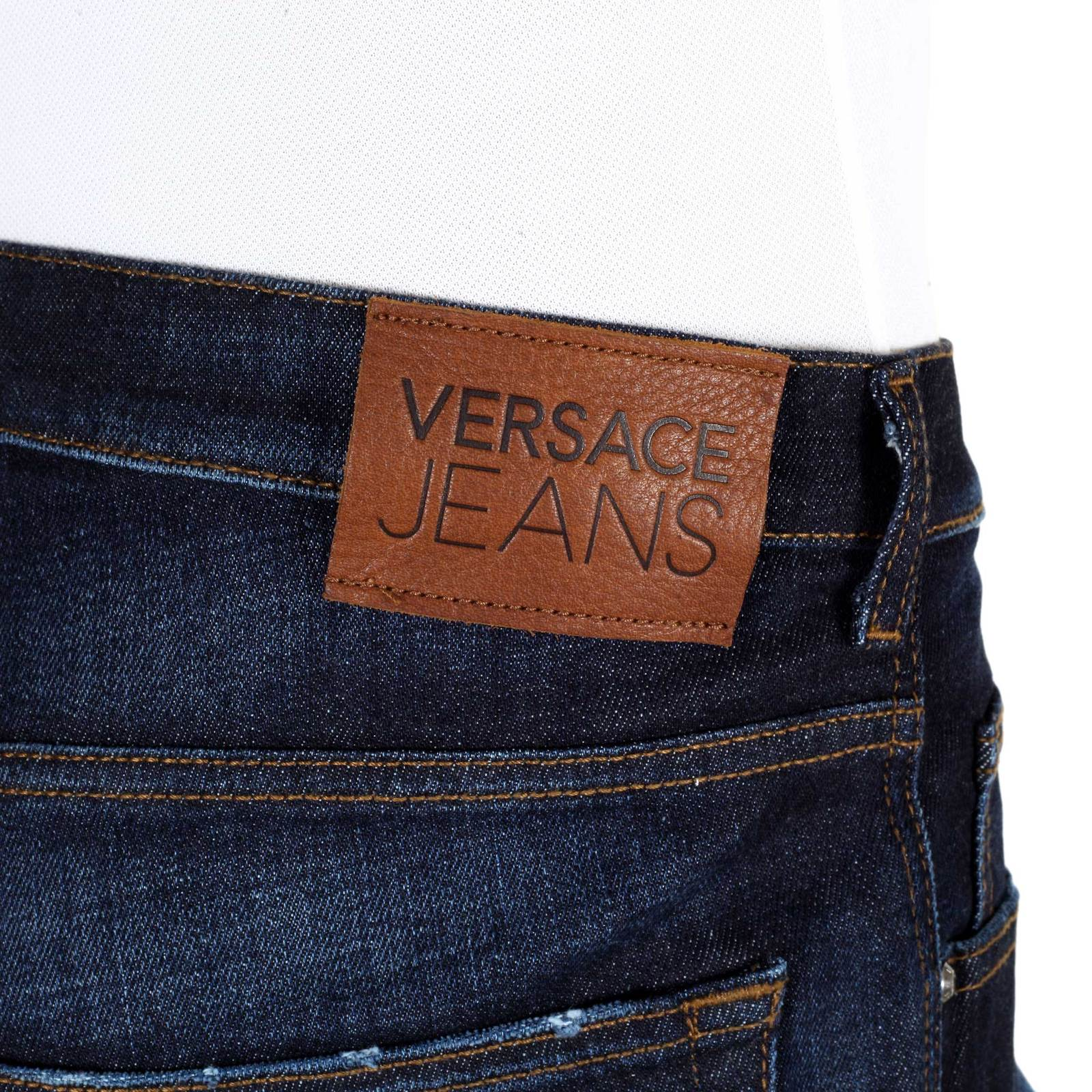 regular fit denim jeans for men by versace clothing