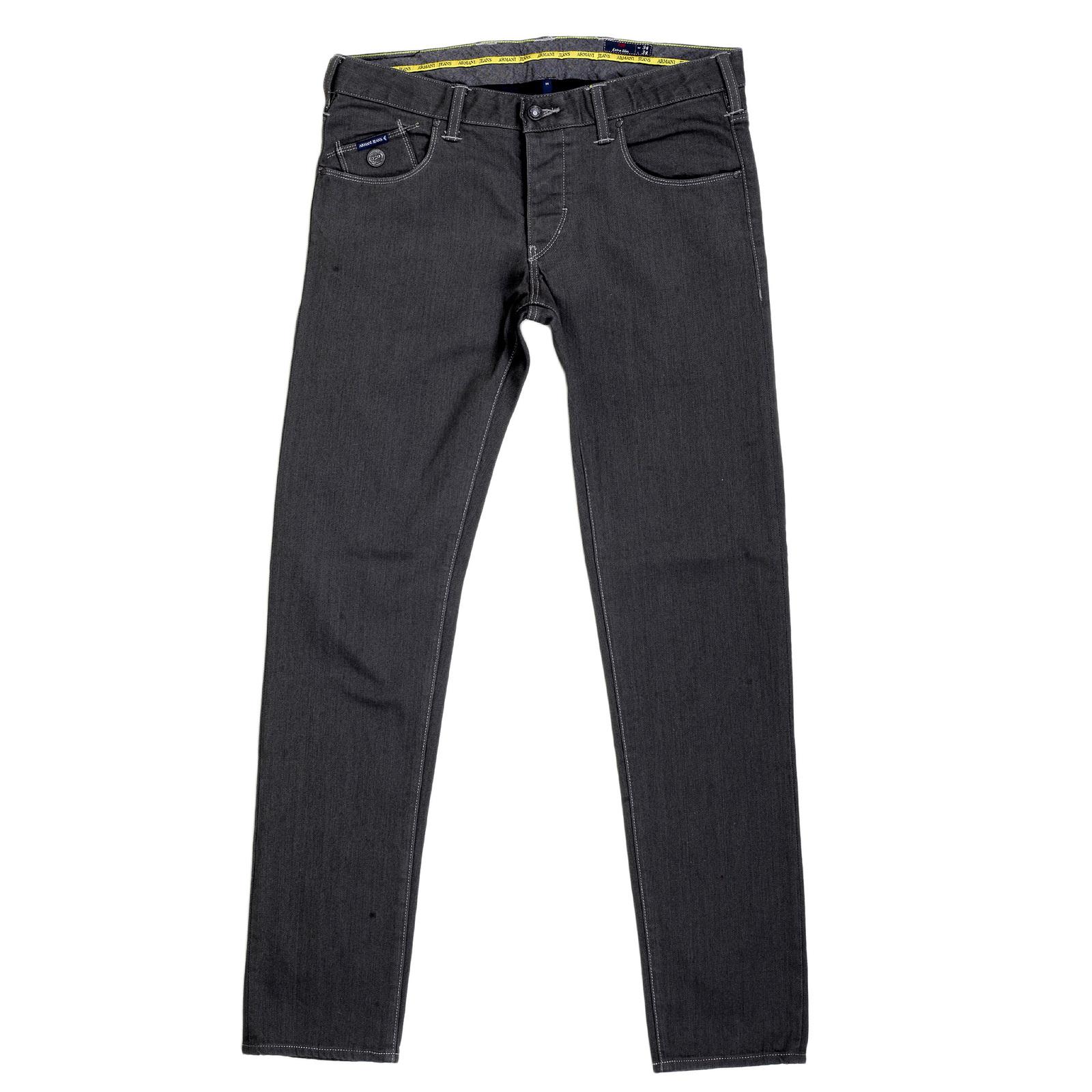 slim fit low waist mens grey jeans from armani jeans uk. Black Bedroom Furniture Sets. Home Design Ideas