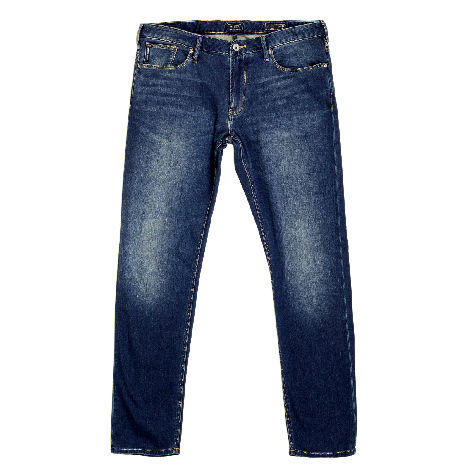 shop for faded blue mens low rise jeans by armani jeans. Black Bedroom Furniture Sets. Home Design Ideas