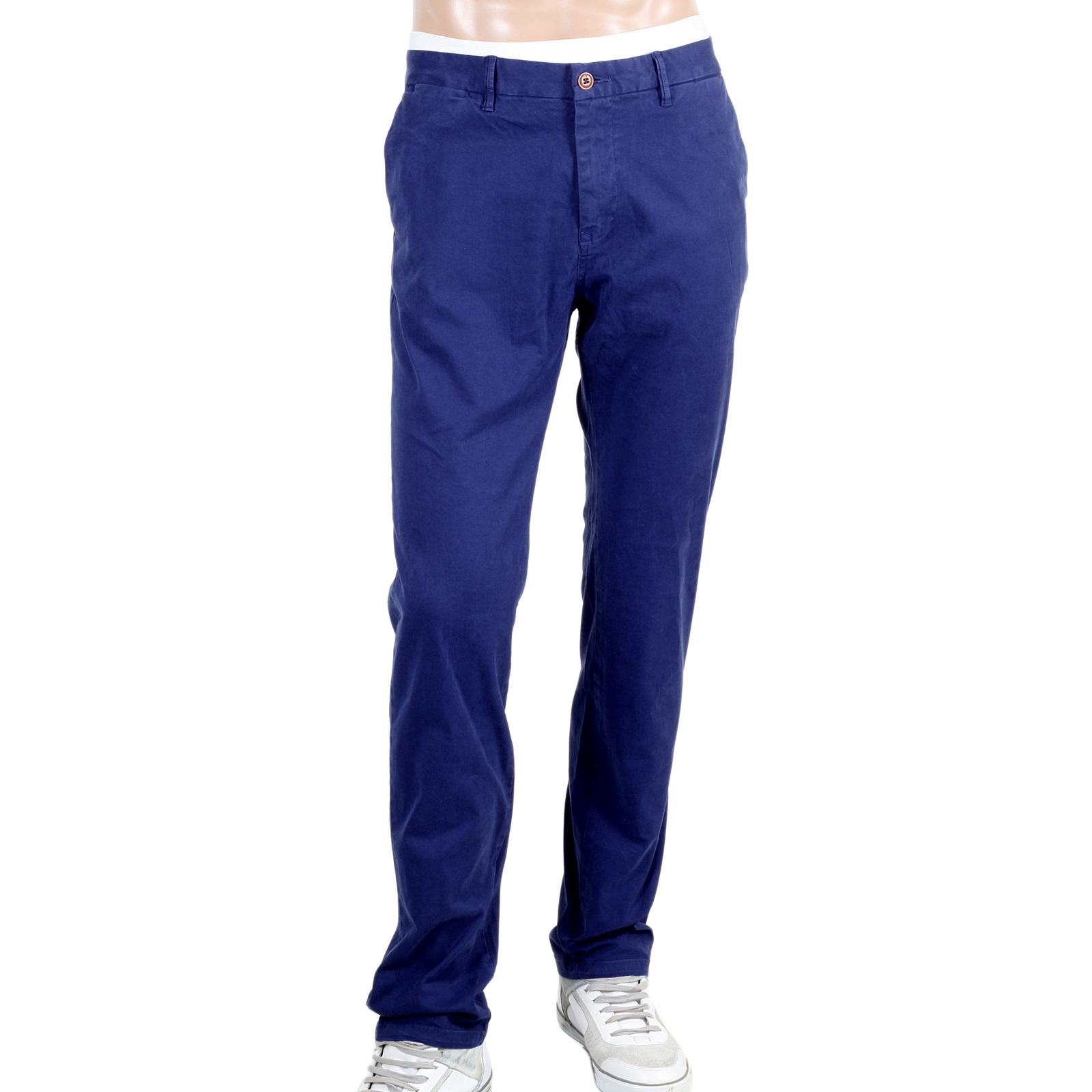 scotch and soda stretch cotton slim fit chinos in blue. Black Bedroom Furniture Sets. Home Design Ideas