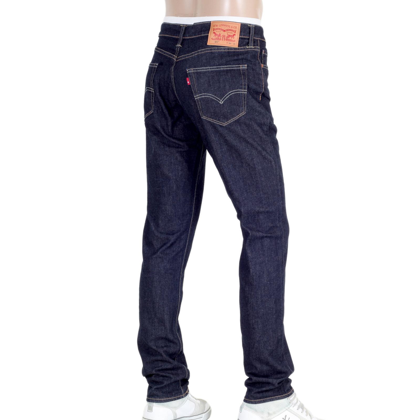404bae8419b Mens Dark Blue Levis 511 Slim Fit Jeans with Low Waist