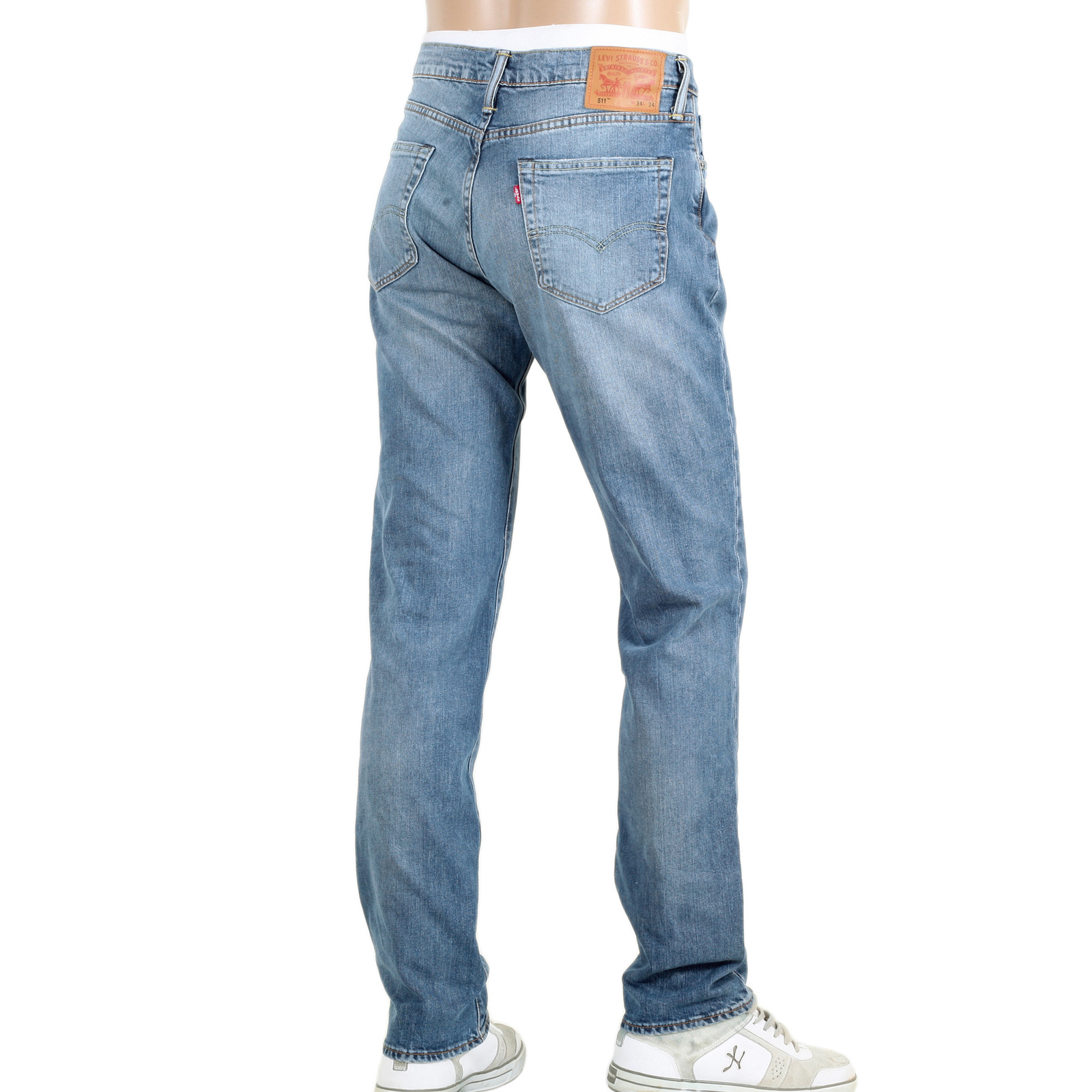 mens lower waist levis 511 slim fit jeans in light blue. Black Bedroom Furniture Sets. Home Design Ideas