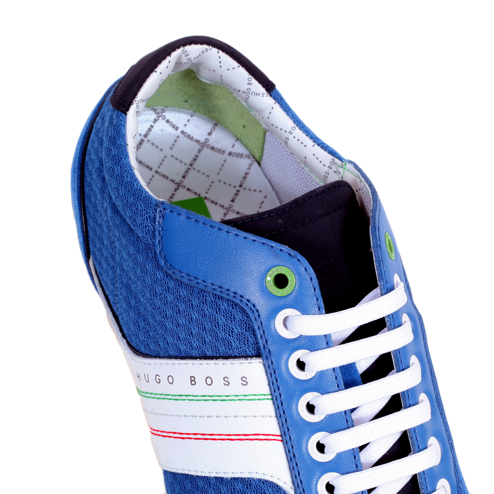 c913a5d630 Low Top Victov Hugo Boss Green Trainers in Medium Blue with Round Toe  BOSS5877