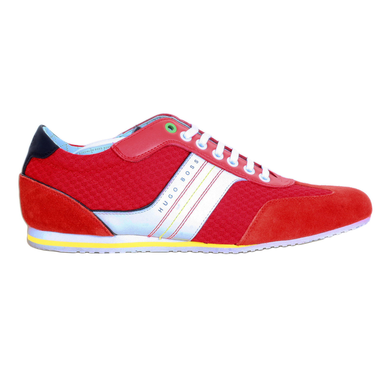 06f12d5168 Buy Mens Low Top Hugo Boss Green Trainers in Bright Red