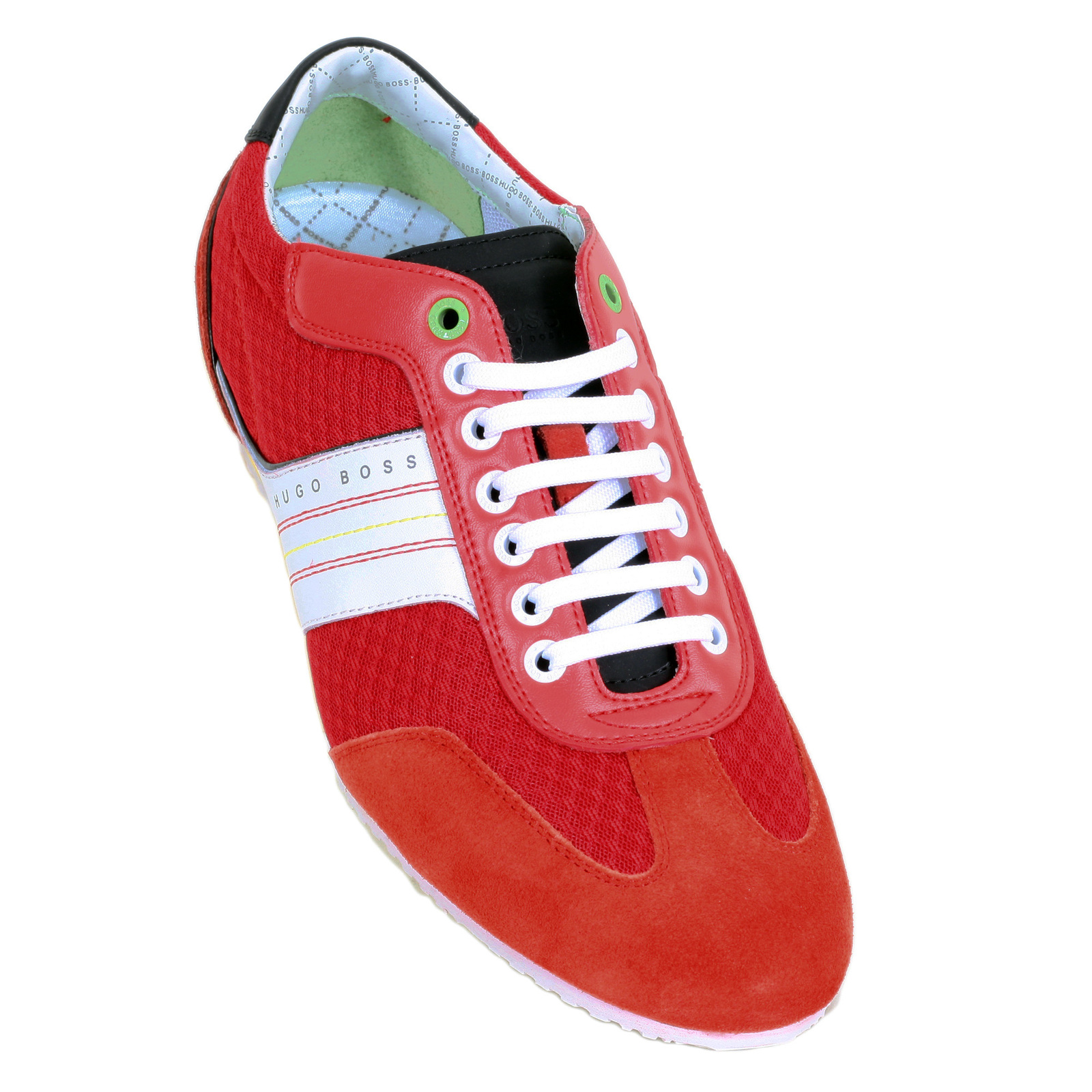 0f39f70e7c Round Toe Victov Hugo Boss Green Trainers in Bright Red with Low Top Design  BOSS5878