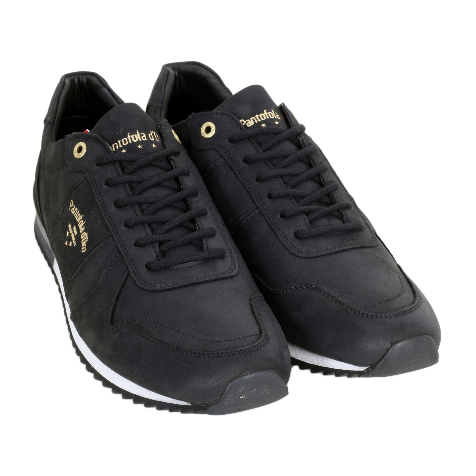 black handcrafted mens trainers by pantofola d 39 oro. Black Bedroom Furniture Sets. Home Design Ideas