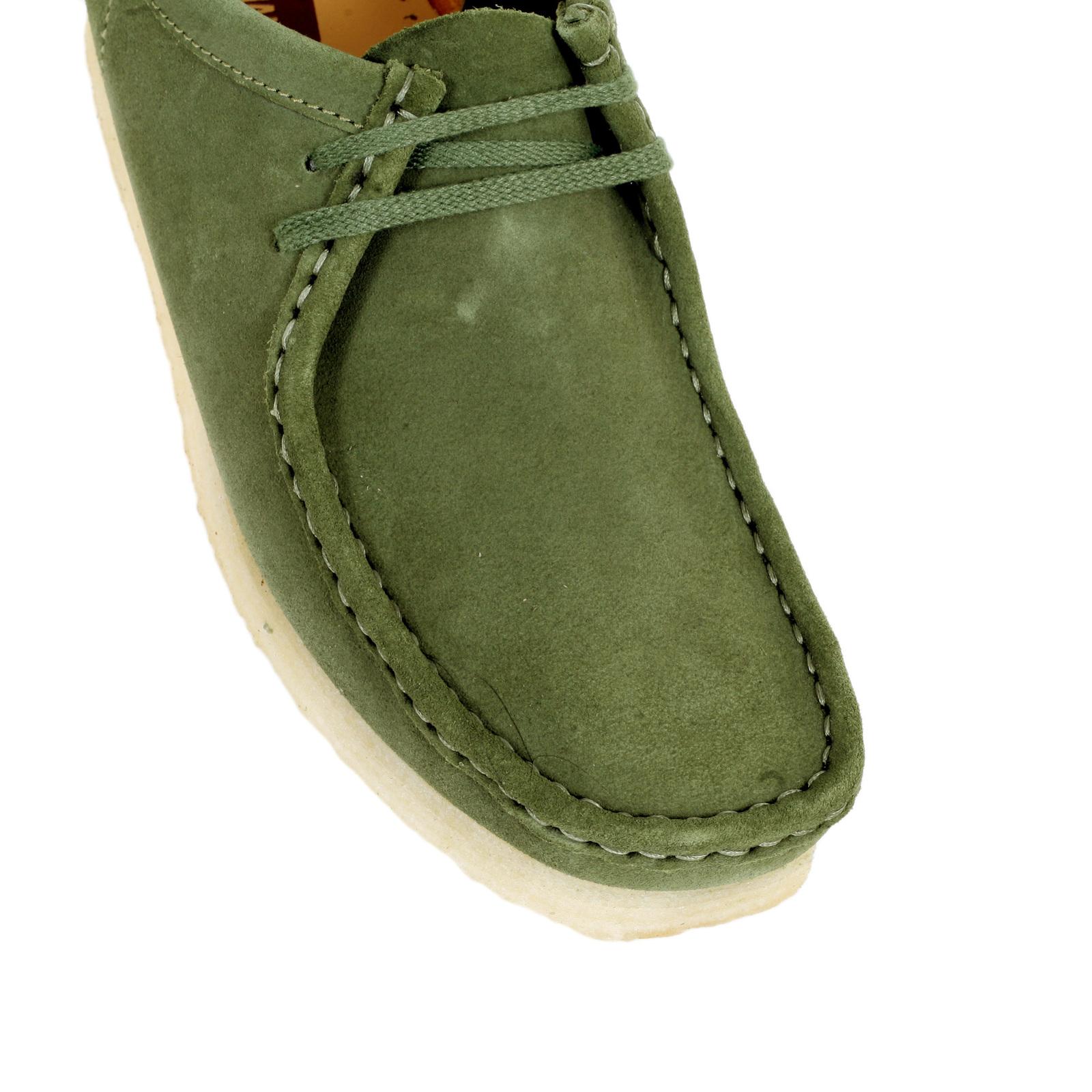 Clarks Originals Wallabee Men/'s Leaf Green Suede 26114504