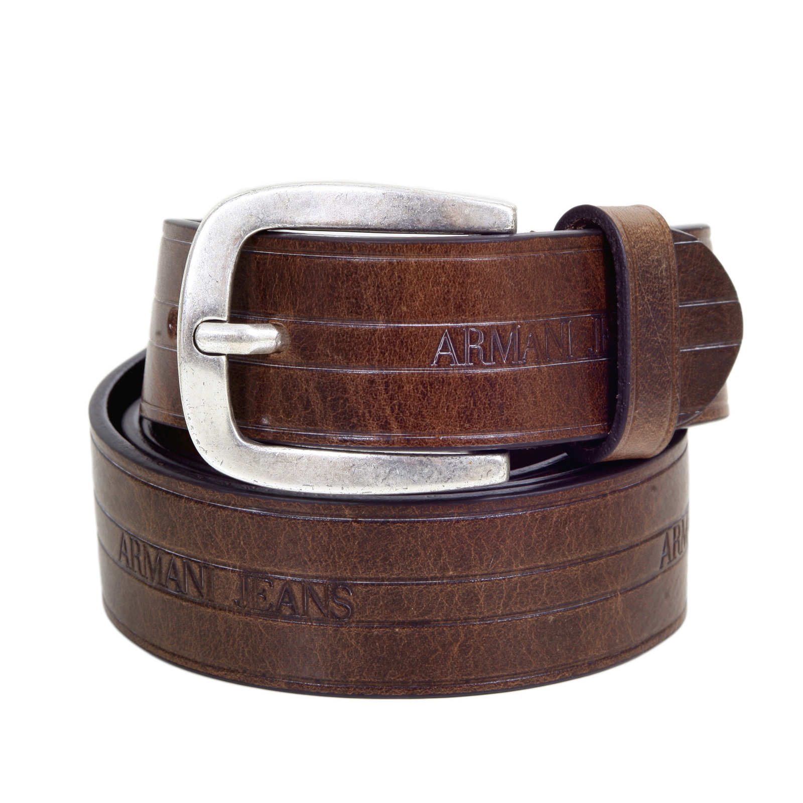 Women's Full Grain Casual Leather Belt with Polished Solid Brass Buckle /2