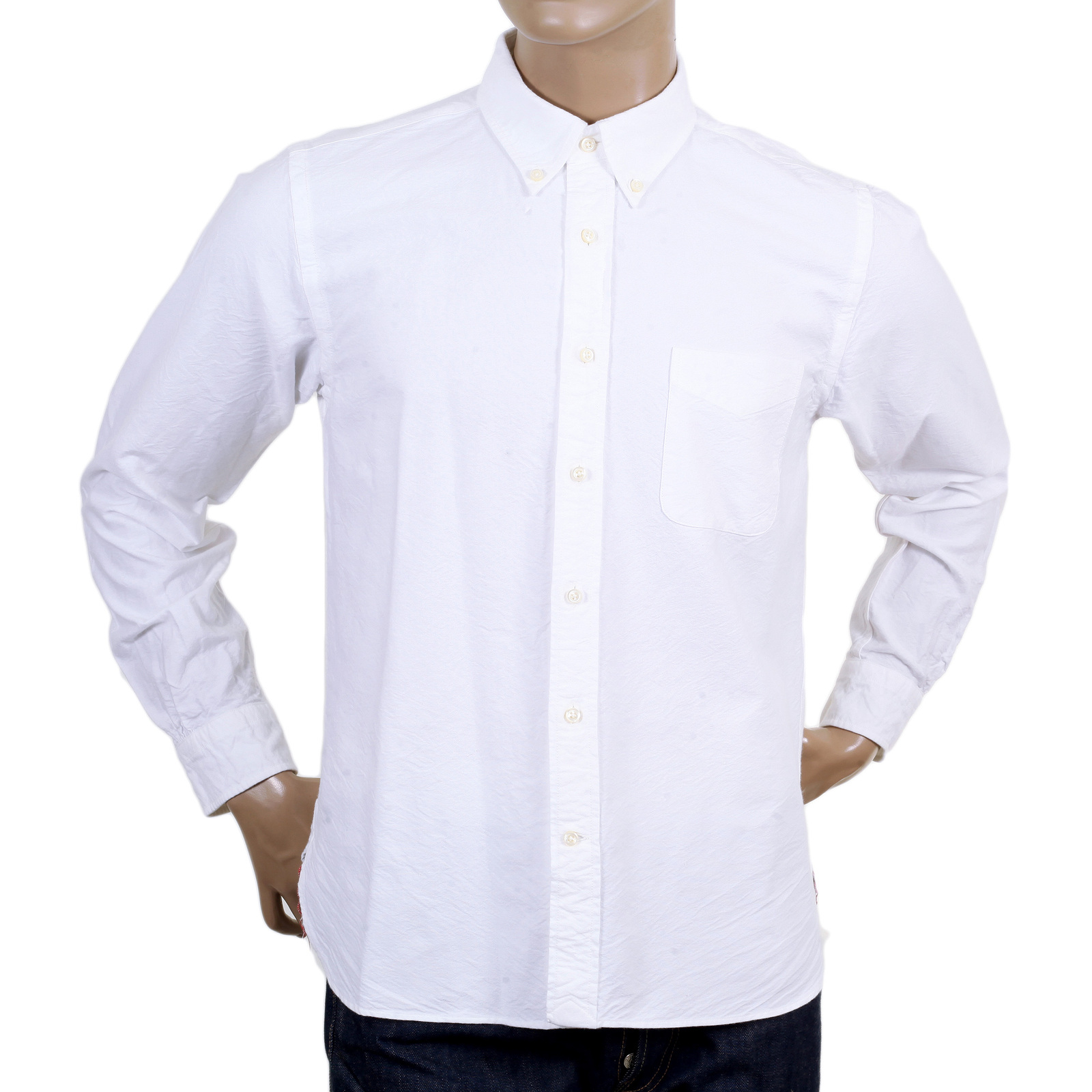 Shop for oxford sugar cane button down off white shirt for White button down collar oxford shirt