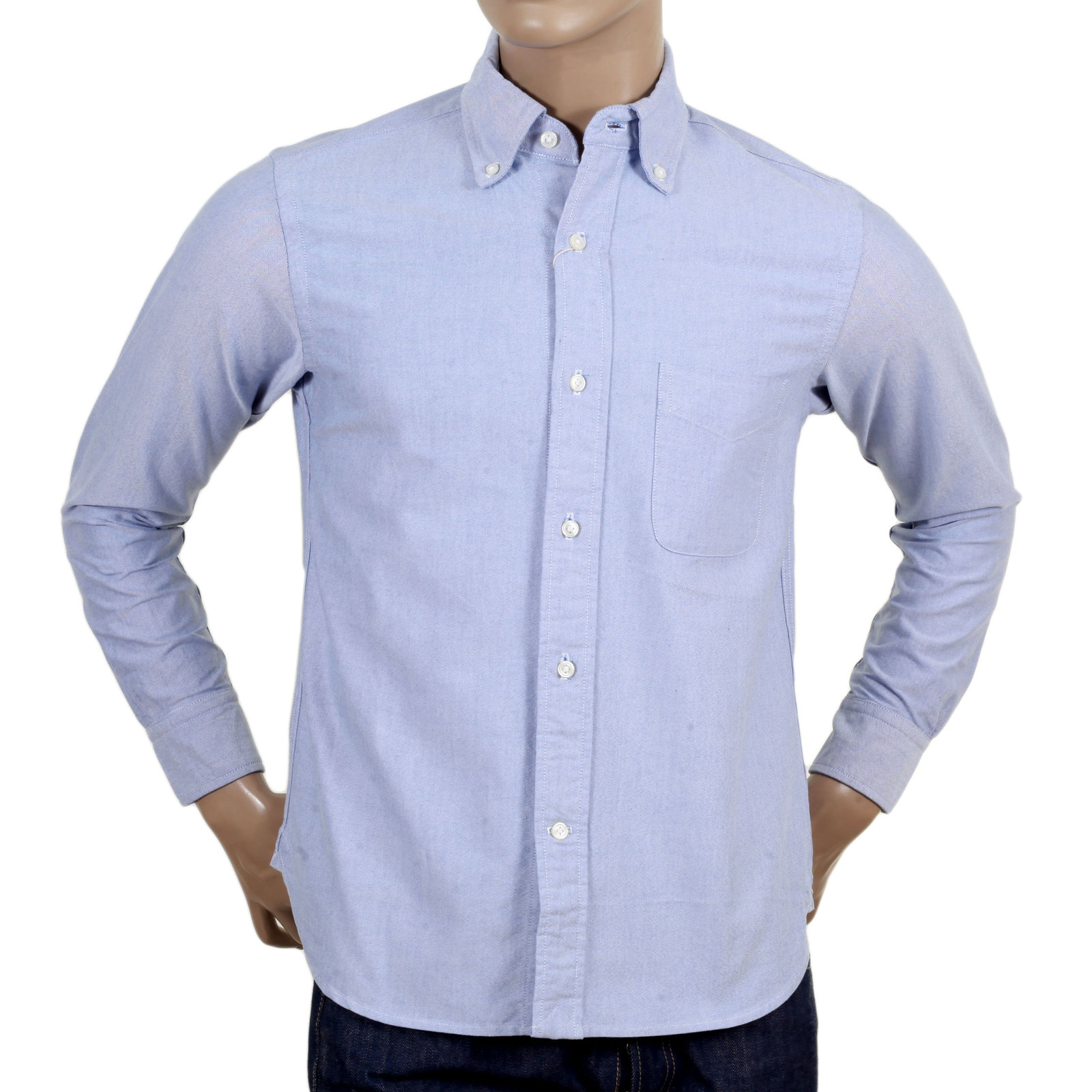 Mens Slim Fit Shirt In Blue From Sugar Cane At Togged
