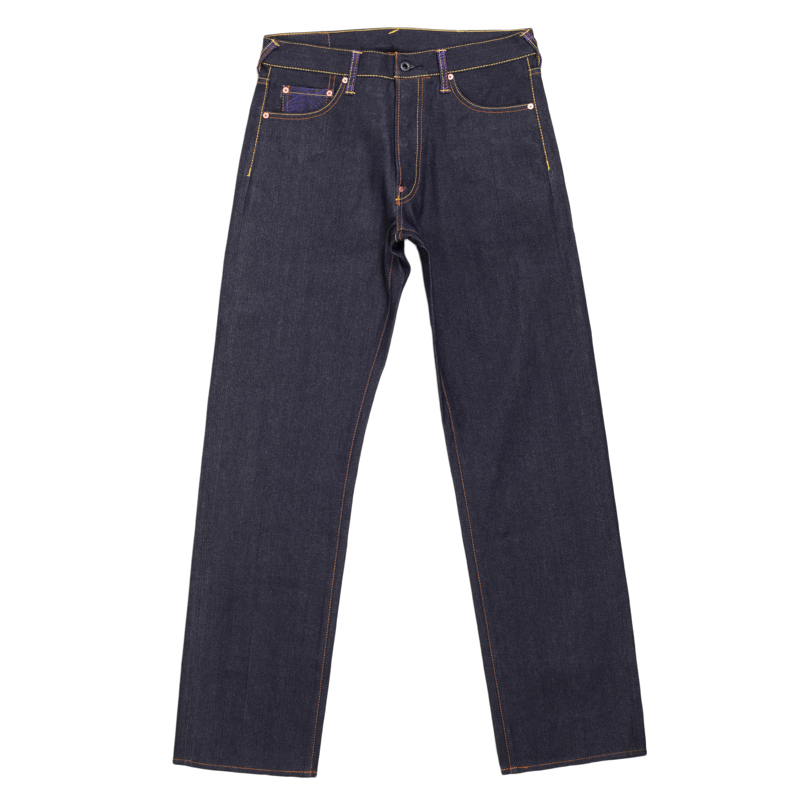 Mens designer jeans with lucky cat embroidery from rmc