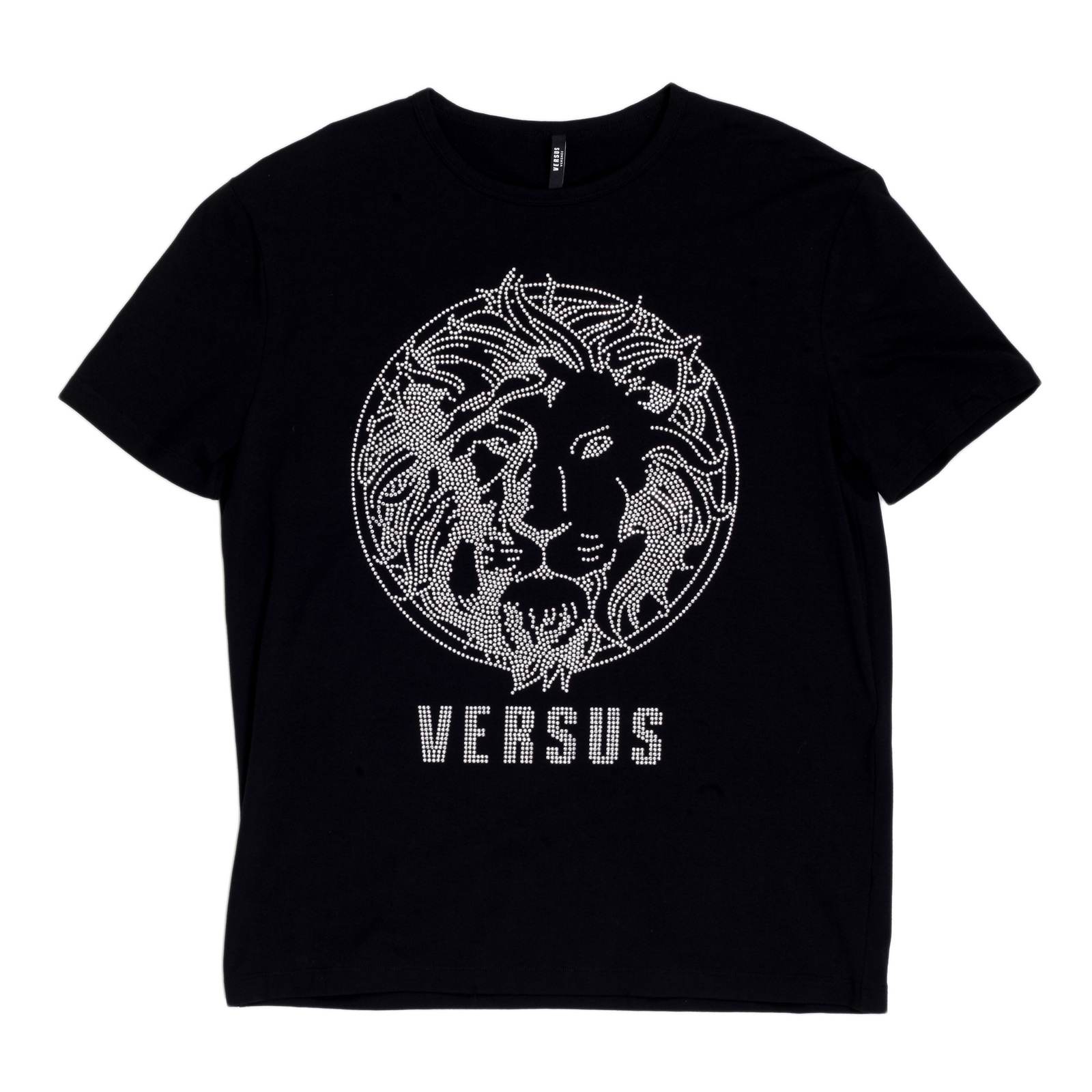 cce081647 A Black Party Wear Studded T Shirt by Versace Clothing