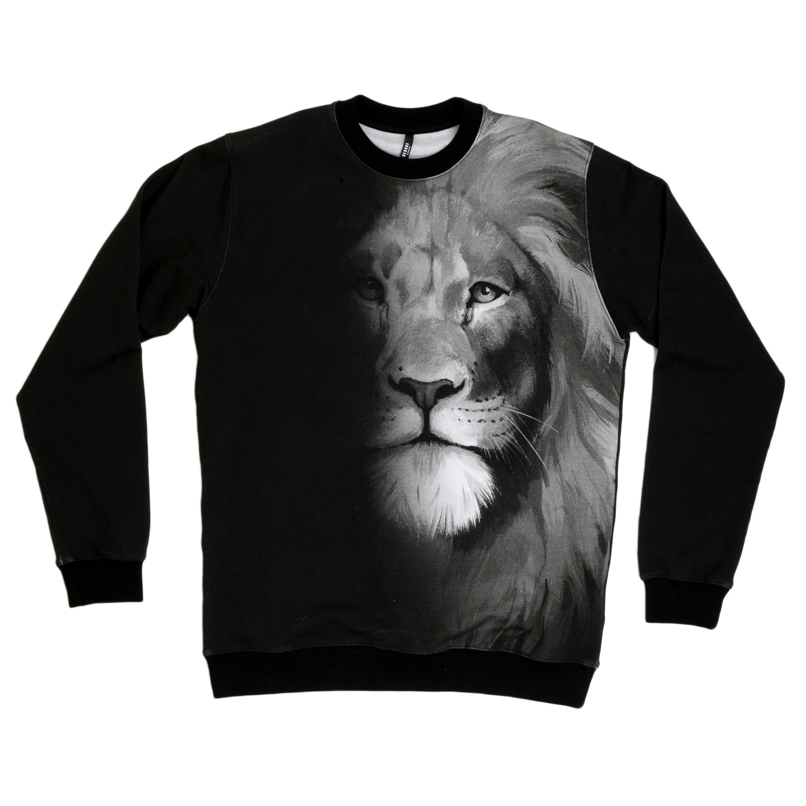 05860177 Beautiful Lion Head Photo Printed Mens Sweatshirt by Versace UK