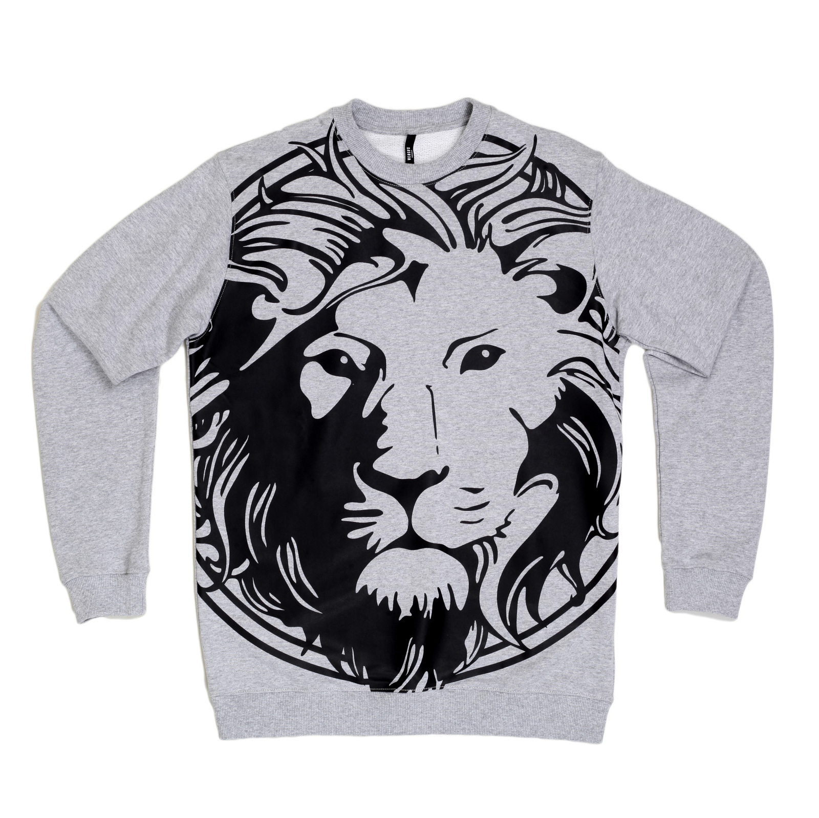 5aa1a0a2aca5ea Marl Grey Mens Sweatshirts with Rubber Print by Versace
