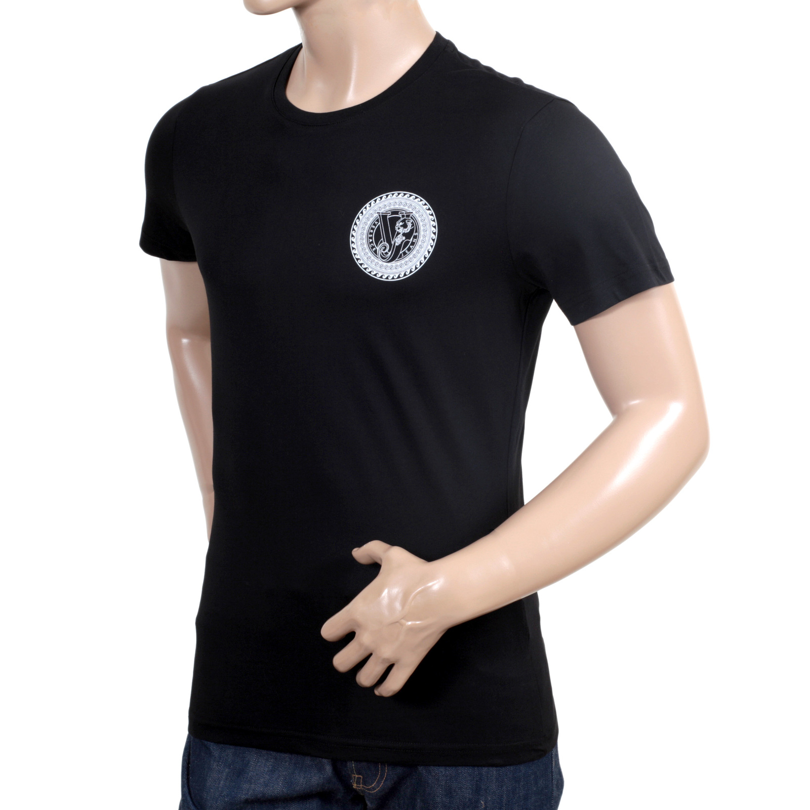 smart and sexy versace crew neck t shirt shop today. Black Bedroom Furniture Sets. Home Design Ideas