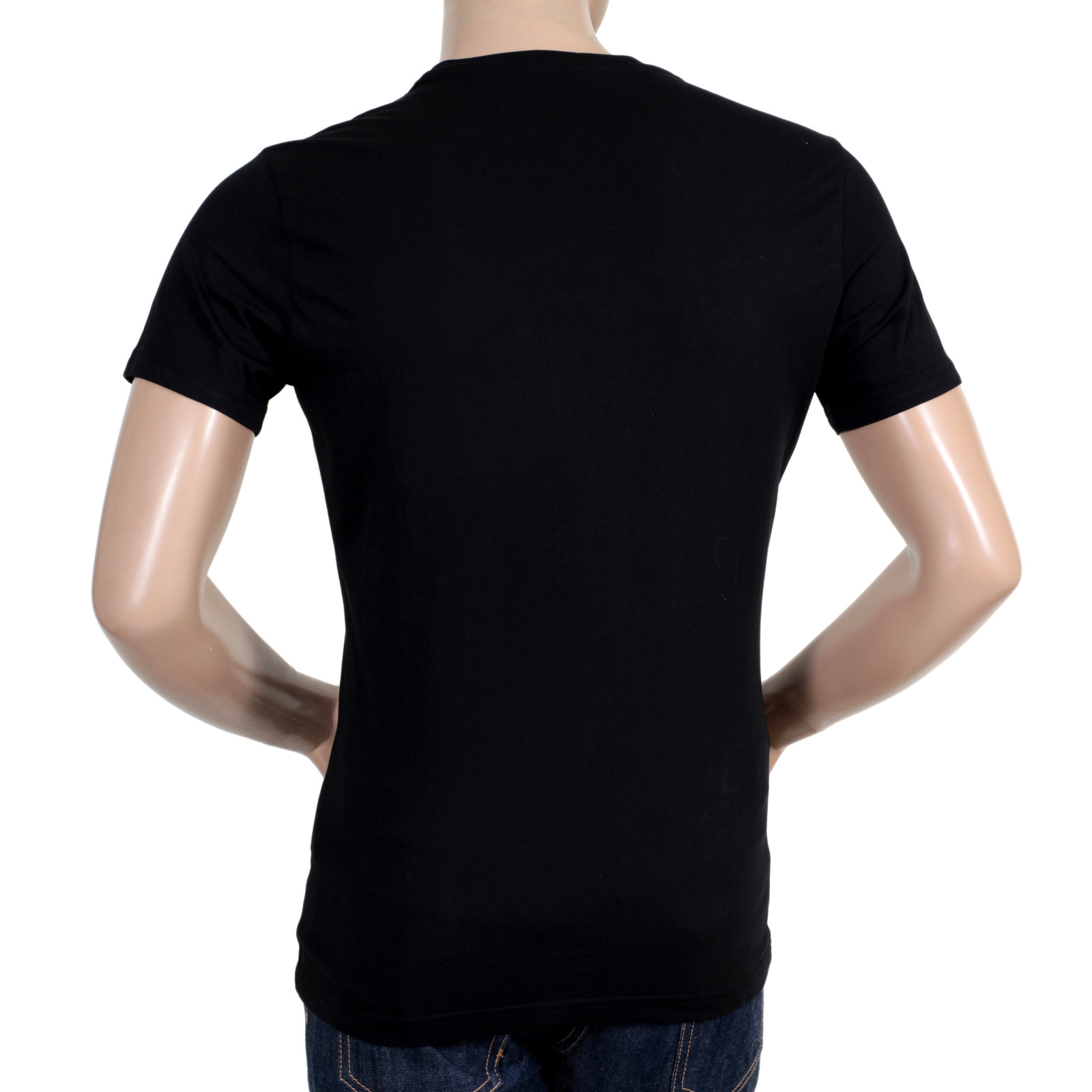Black t shirt with white collar - Versace Crew Neck Cotton Made Short Sleeve Green Logo Printed T Shirt In Black Vers6158