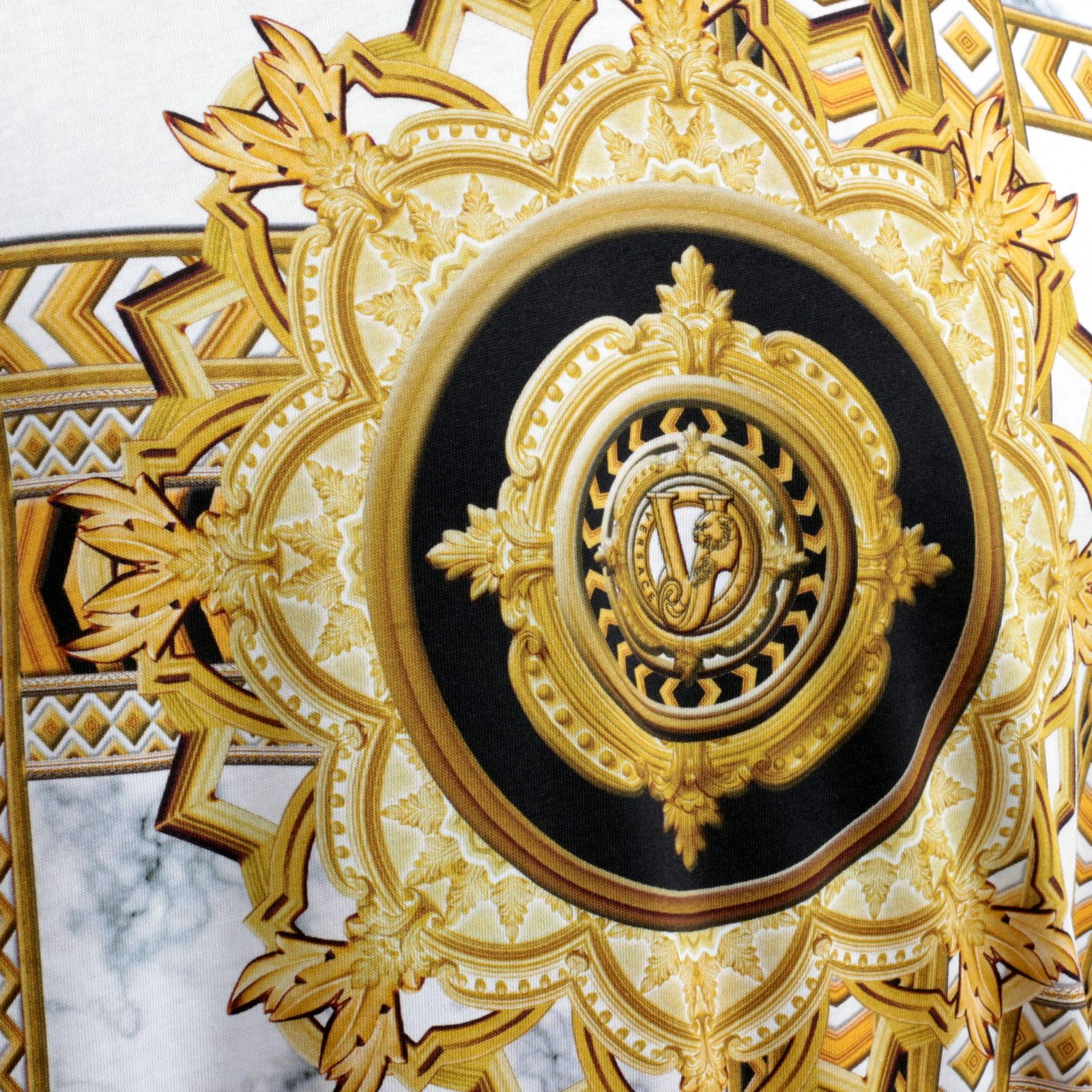 Black And Gold Mens Versace Shirt