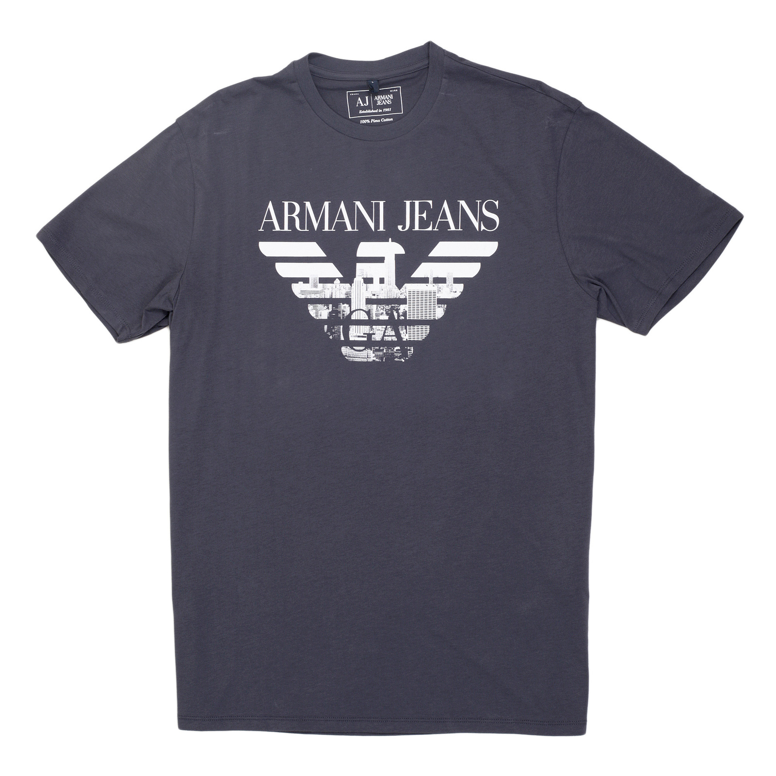 8ffe2c95 Armani Jeans T Shirt with Signature Logo. Buy Now!