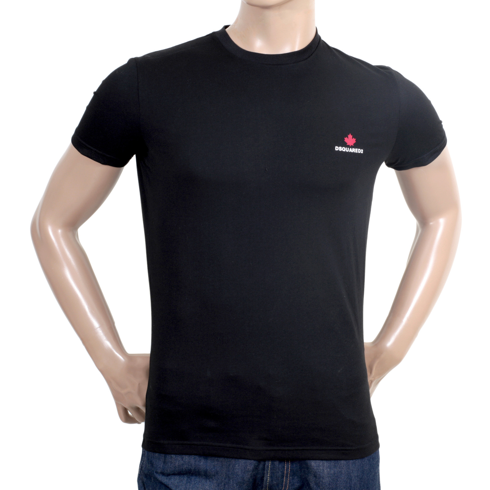 shop for mens regular fit black t shirt from dsquared2. Black Bedroom Furniture Sets. Home Design Ideas