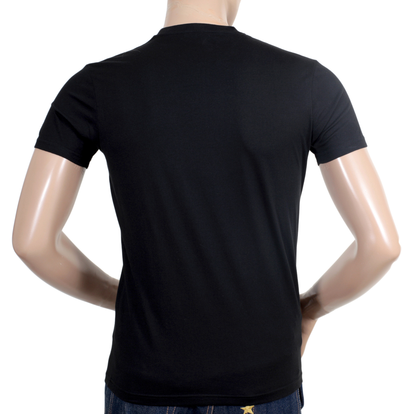 Shop for mens regular fit black t shirt from dsquared2 for Men s regular fit shirts