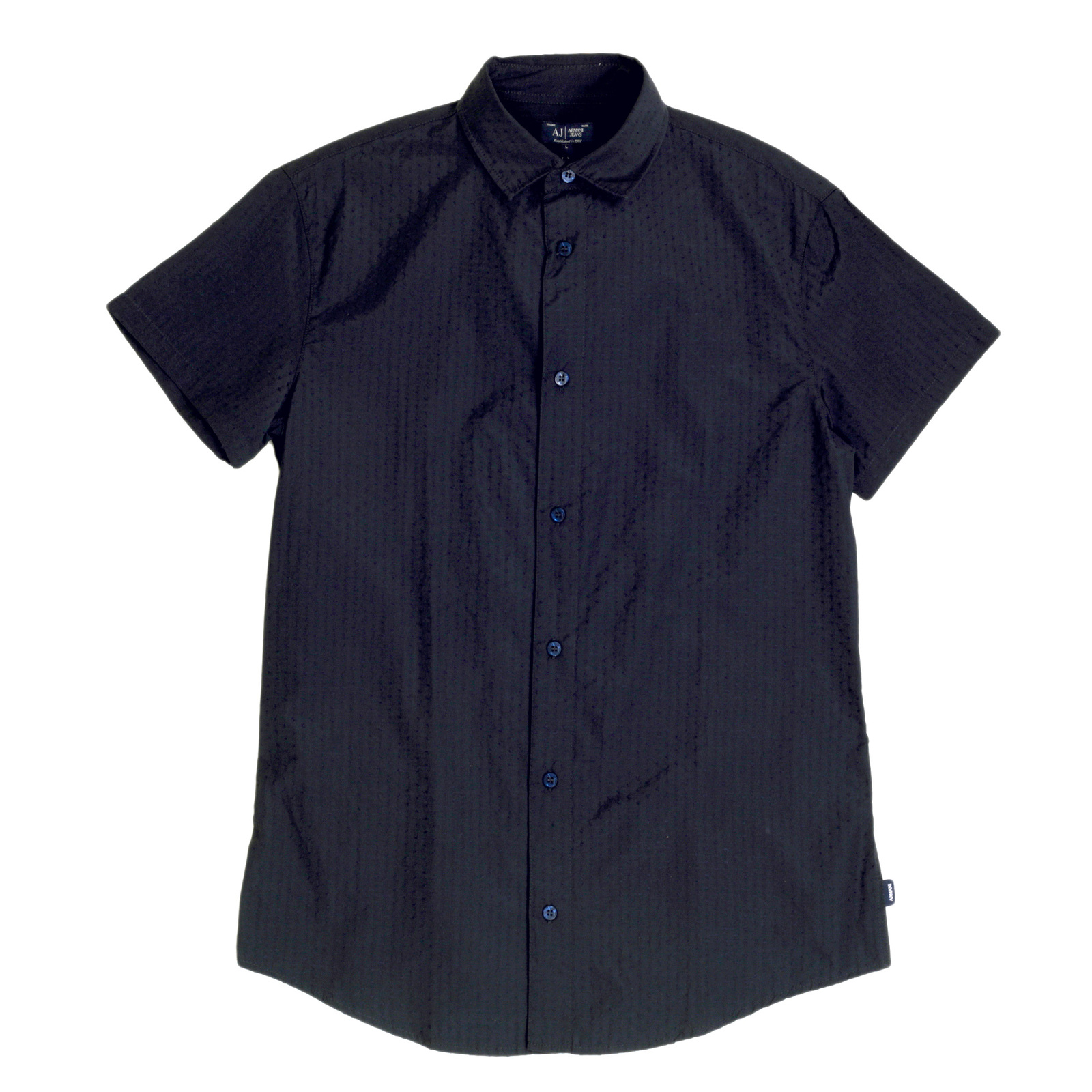 Slim Fit Short Sleeve Shirts For Men By Armani Jeans