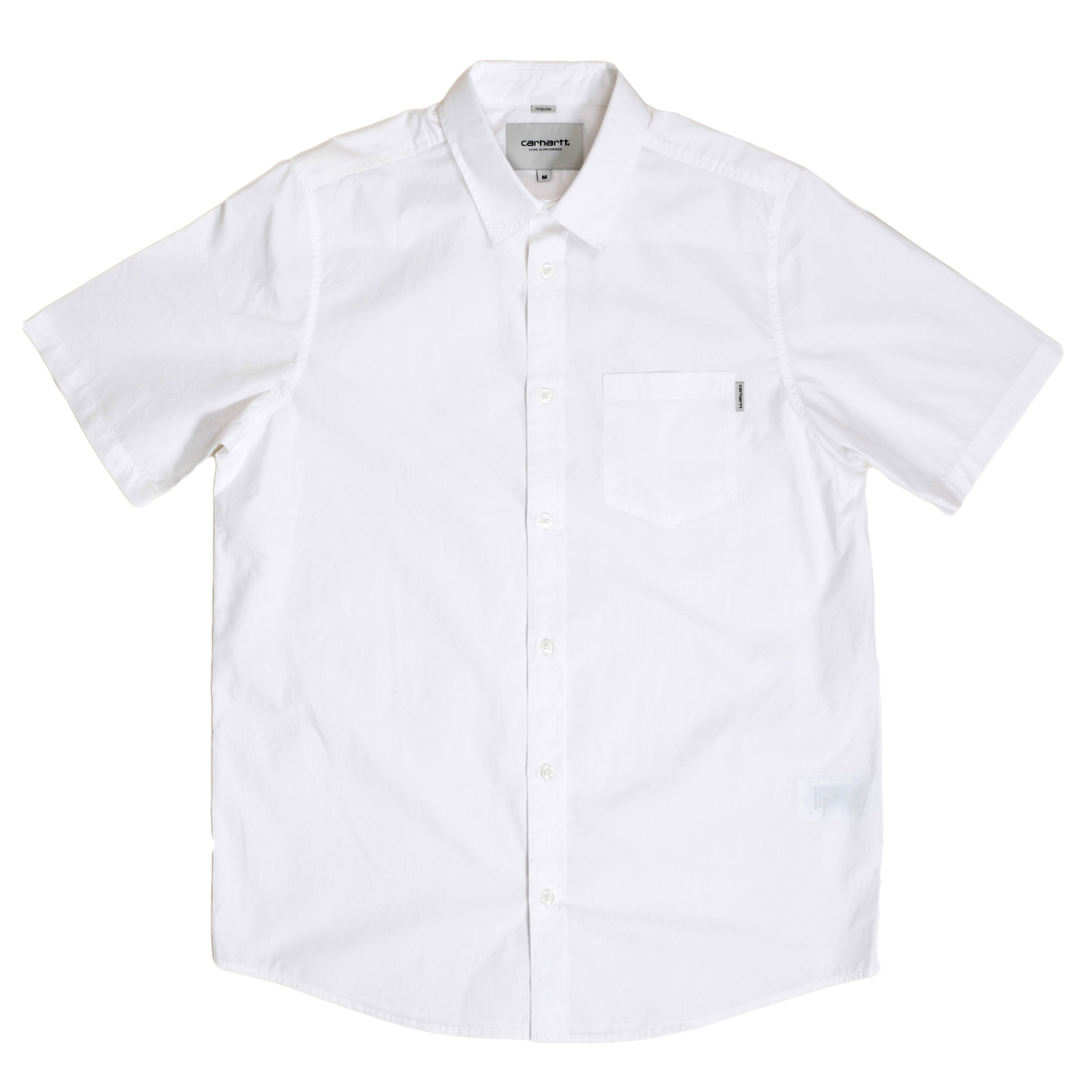 White Designer Short Sleeve Shirts For Men By Carhartt
