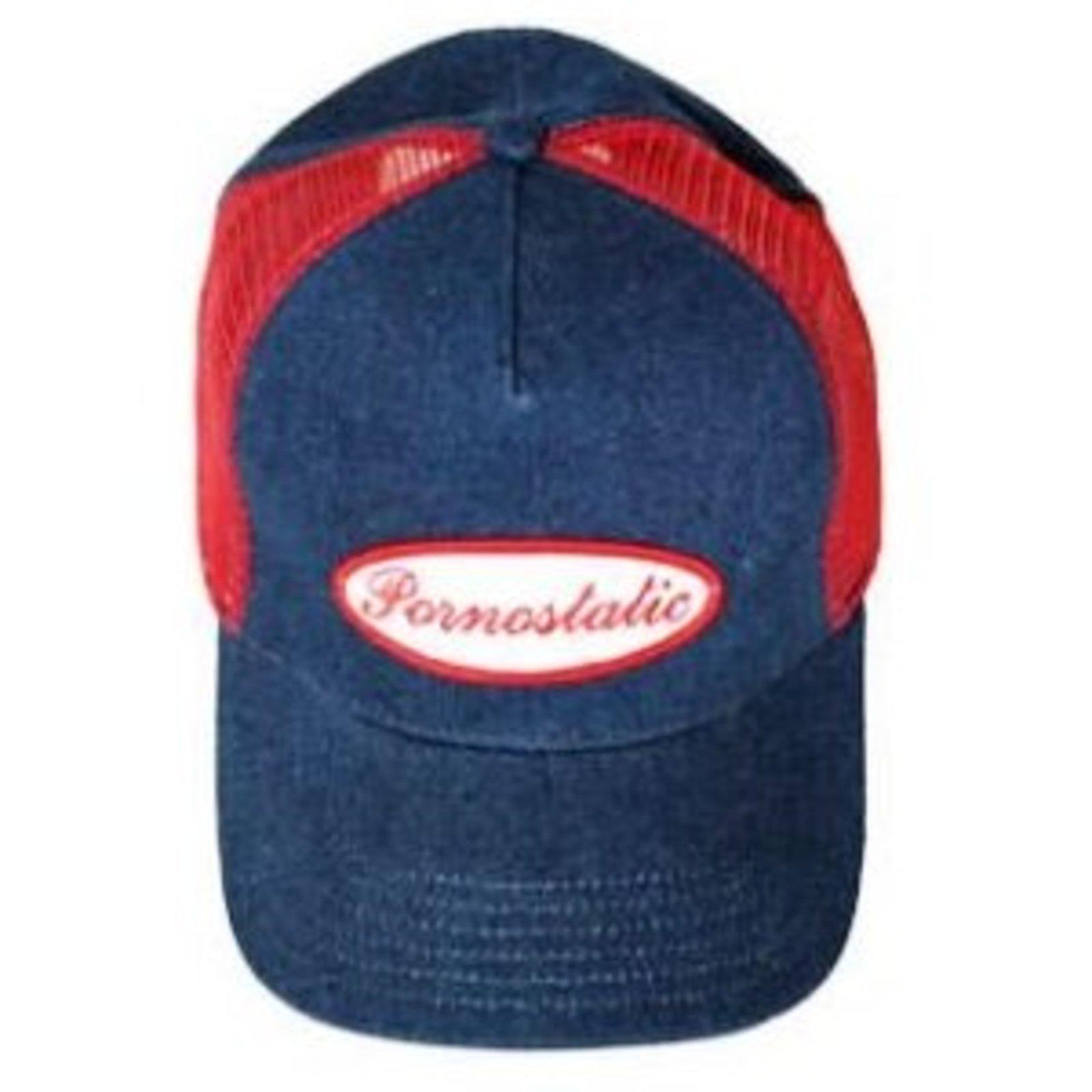 efa70e92026 Pornostatic cap Denim trucker cap at Togged Clothing