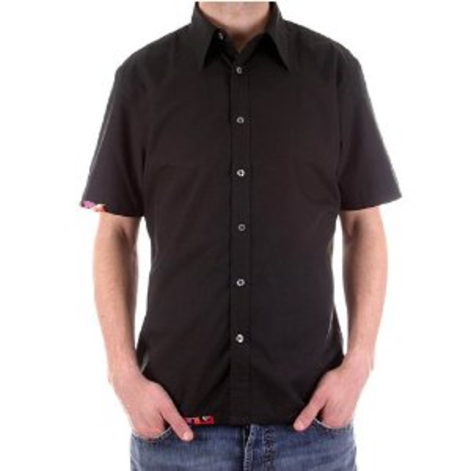 Paul smith casual shirt mens black short sleeve shirt for Mens black short sleeve dress shirt