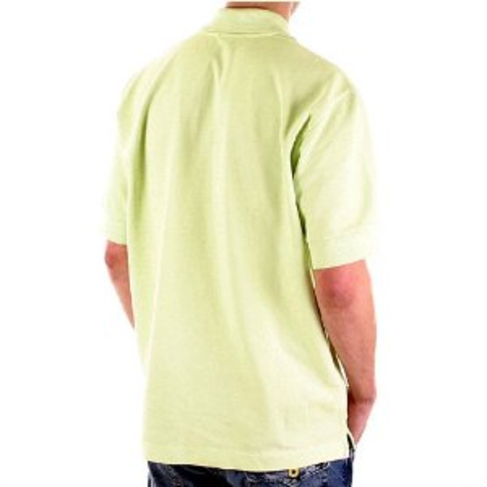 Stone Island Polo T Shirt Mens Lime Pique Polo Shirt