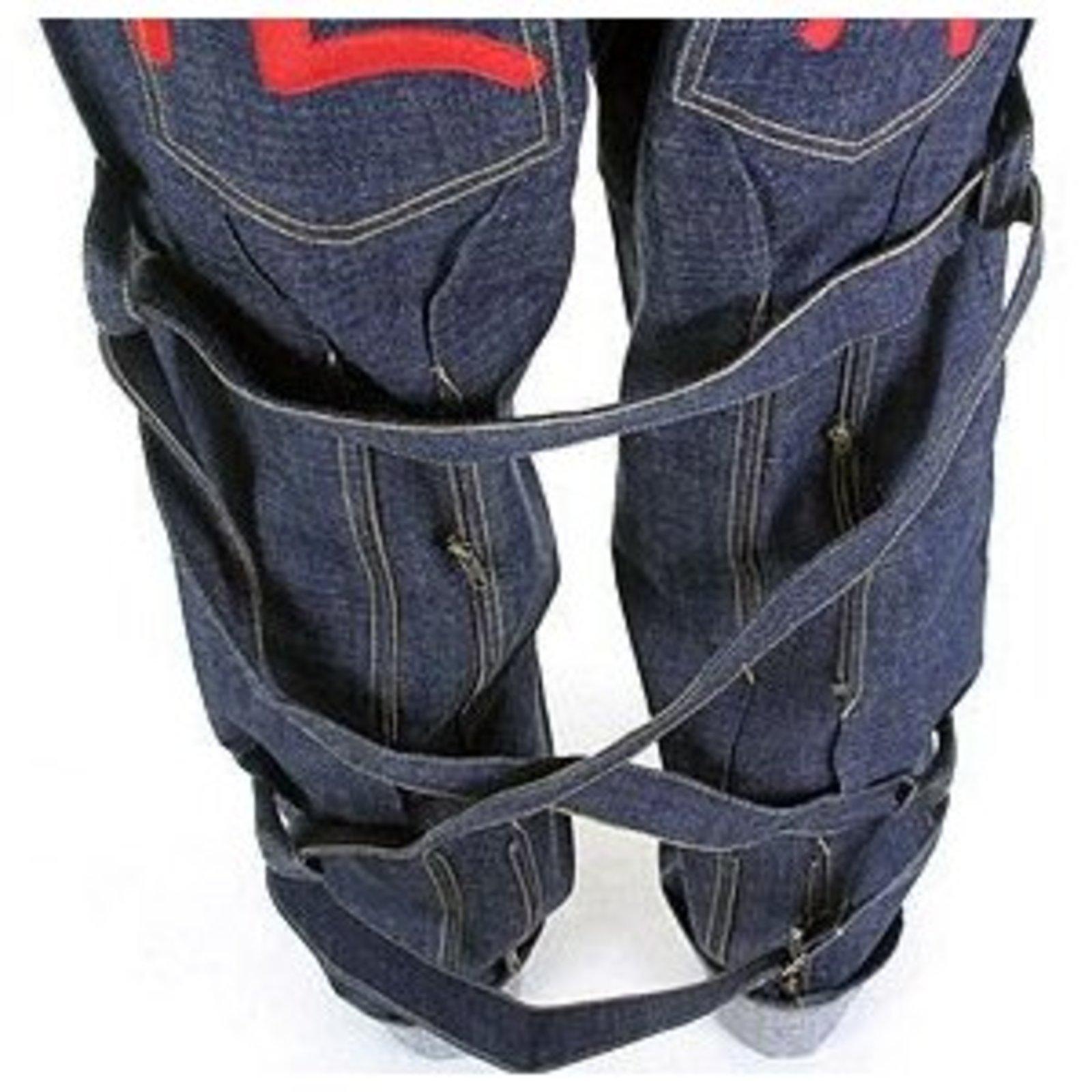 Evisu 'Bondage' denim jeans