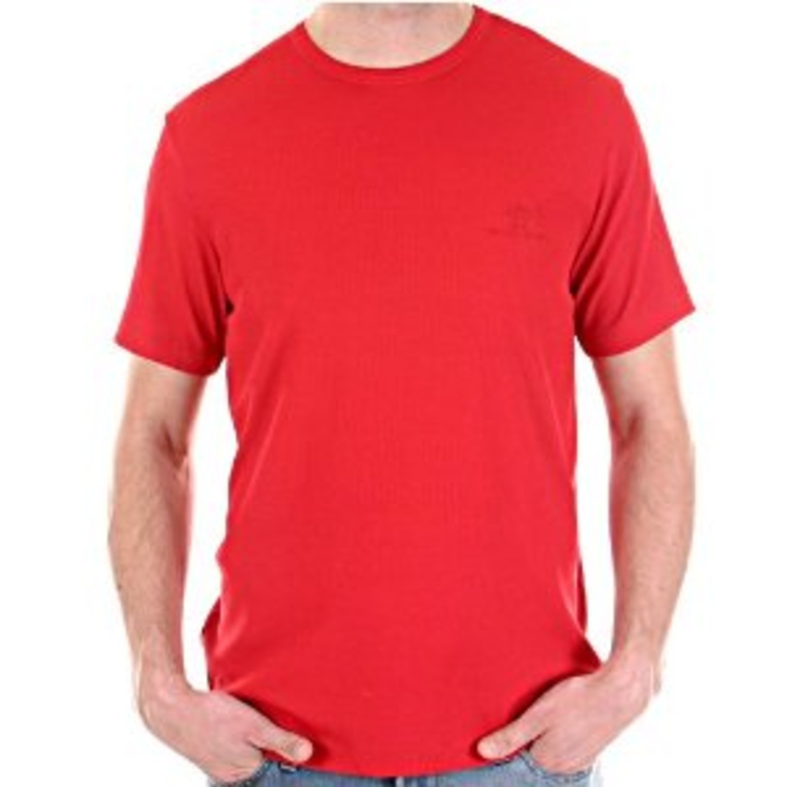 Versace t-shirt mens red crew neck VJCM3668 at Togged Clothing