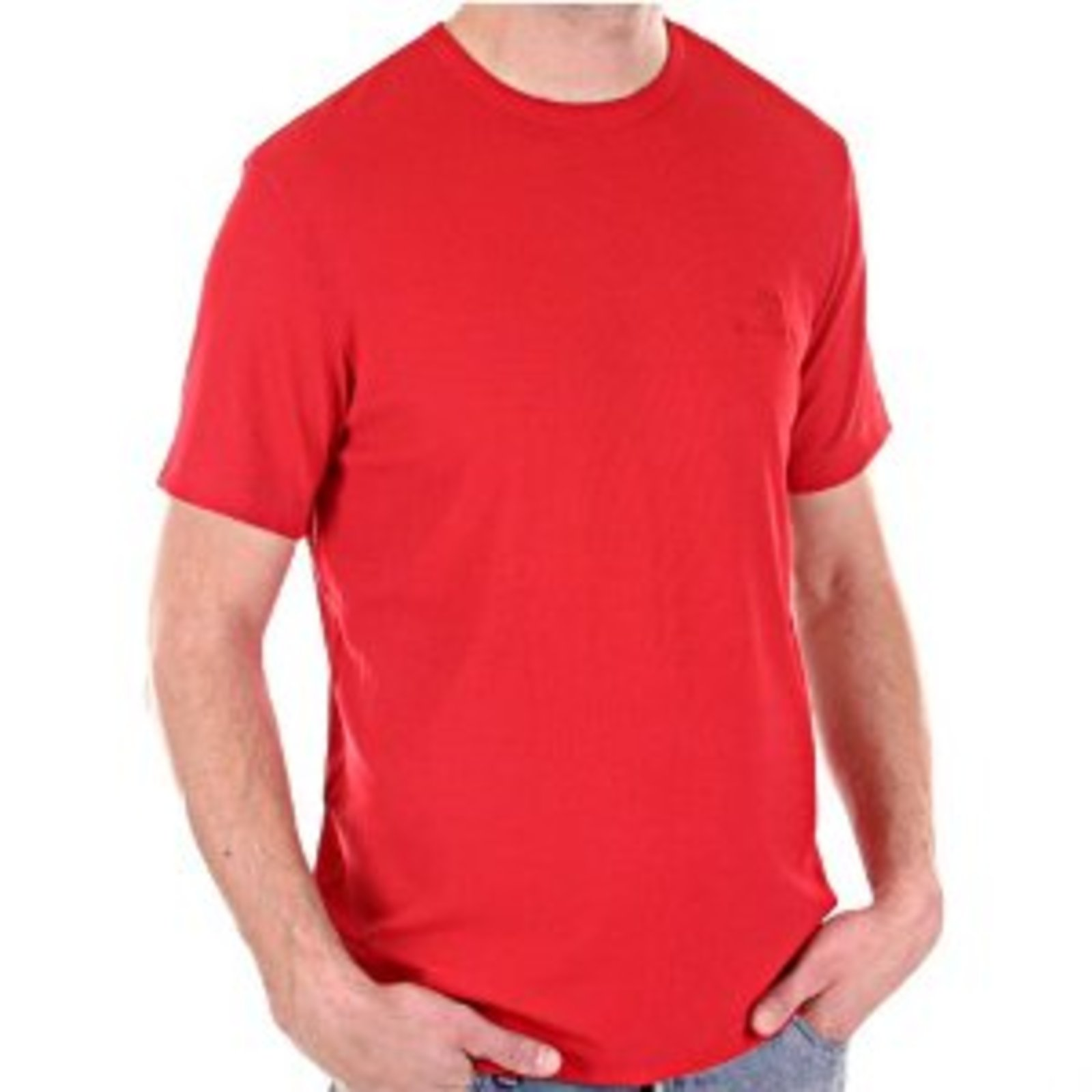 Versace T Shirt Mens Red Crew Neck Vjcm3668 At Togged Clothing