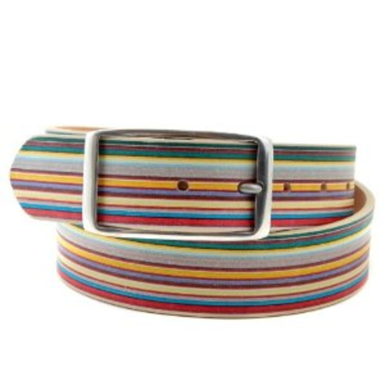 paul smith multi stripe leather belt ps1641 at togged clothing