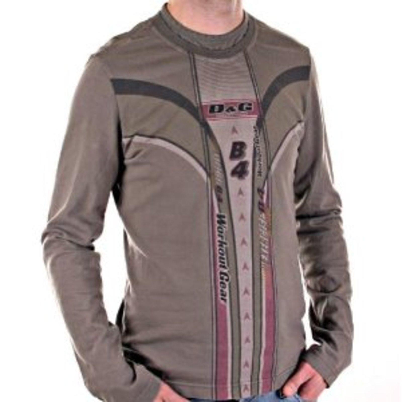 c1ae387d D&G t-shirt Dolce & Gabbana mens washed khaki slim fit top DGM3025 at  Togged Clothing