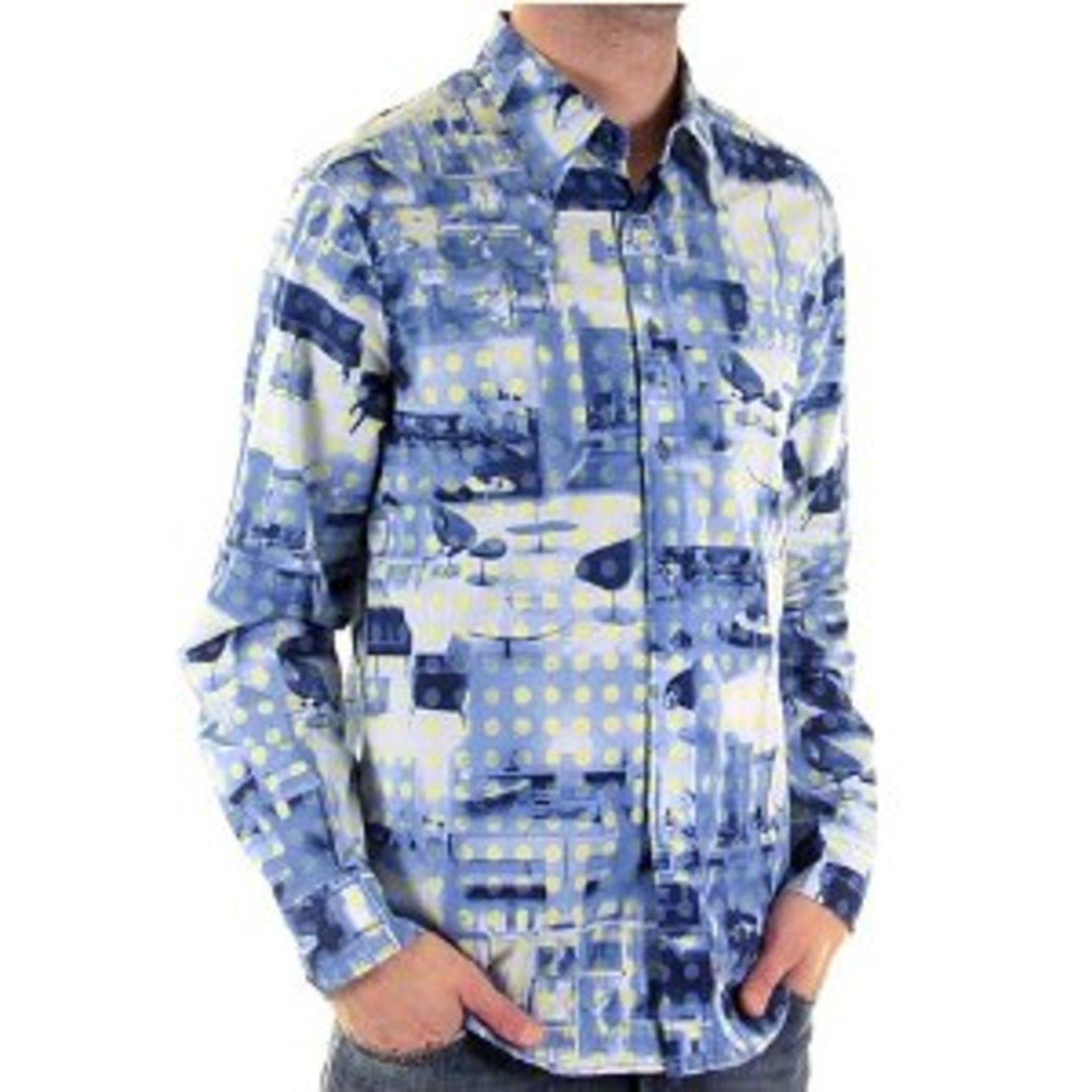 Moschino Shirt Mens Long Sleeve Printed Shirt Mosm3832 At