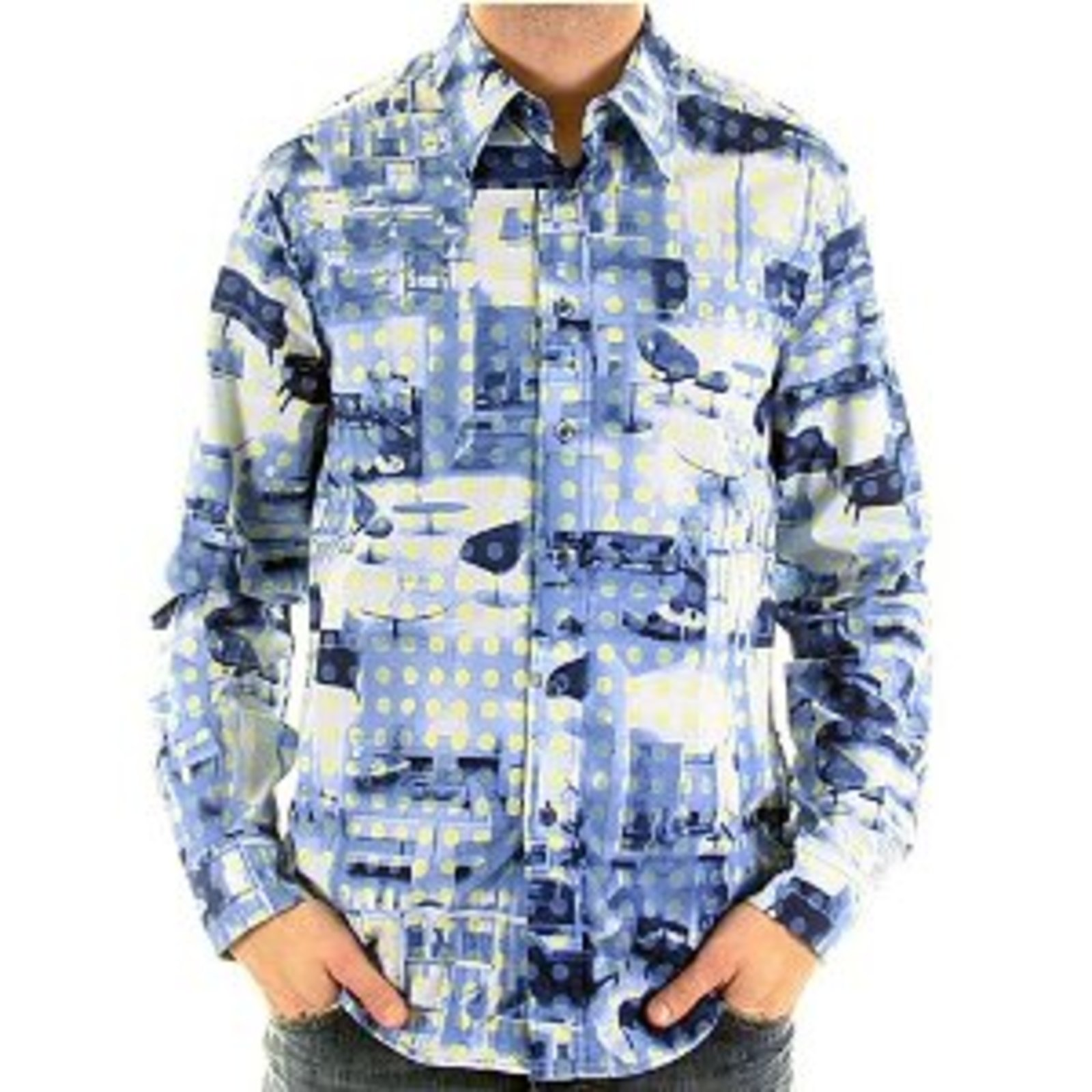 Moschino Shirt Mens Long Sleeve Printed Shirt Mosm3832 At