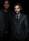 Ashton Kutcher togged in Hugo Boss suit with complementing Beanie
